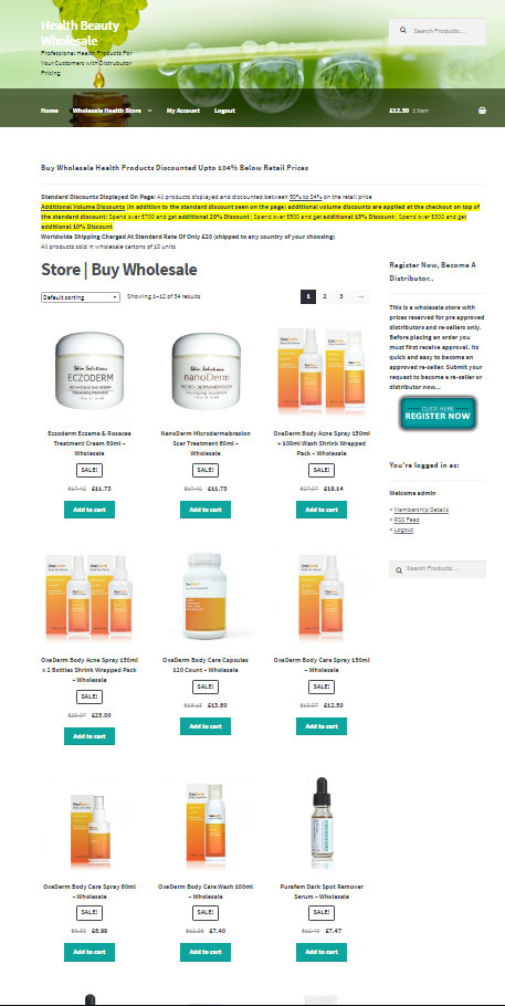 wholesale health products